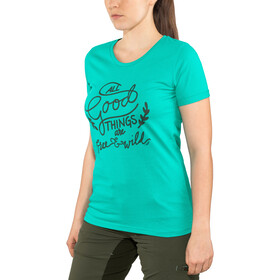 Triple2 Laag Handwrite T-Shirt Women Damen lapis